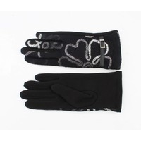 "Gloves ""Flowers"" black"