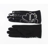 """Handshoenen """"Bloemen"""" zwart"""