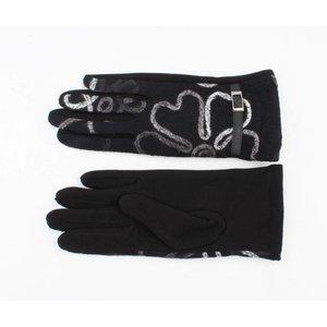 """Gloves """"Flowers"""" black"""