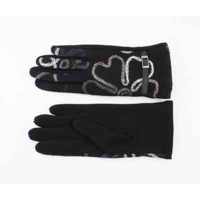 """Handschuhen """"Blumen"""" schwarz"""