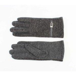 """Gloves """"Lurex"""" grey"""