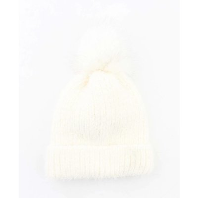 "Beanie ""Rabbit"" white"