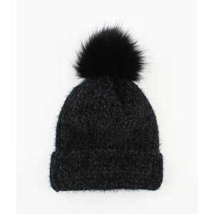 "Beanie ""Rabbit"" black"