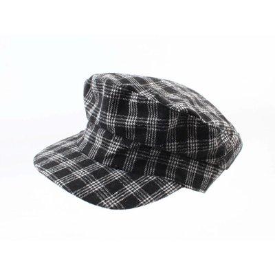 """Newsboy cap """"Scott"""" black/white"""