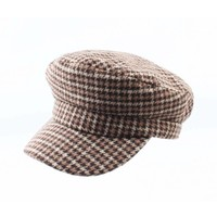 "Newsboy cap ""Pied"" brown"