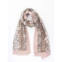 """Sjaal """"Camo Cheetah"""" roze/bruin"""