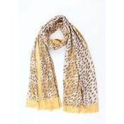 """Sjaal """"Camo Cheetah"""" geel"""