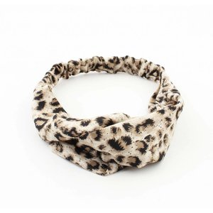 "Headband ""Panther"" beige, per 2pcs."