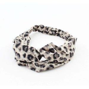 "Stirnband ""Panther"" grey, doppelpack"