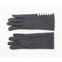 """Gloves """"Pearls"""" grey melee"""
