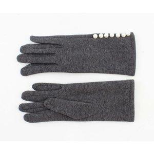 "Handschuhe ""Perlen"" grau melange"
