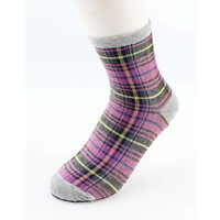 "Socks ""Gingham"" grey/pink"