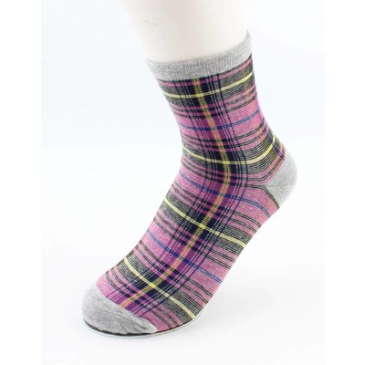 "Socken ""Gingham"" grau/rosa"