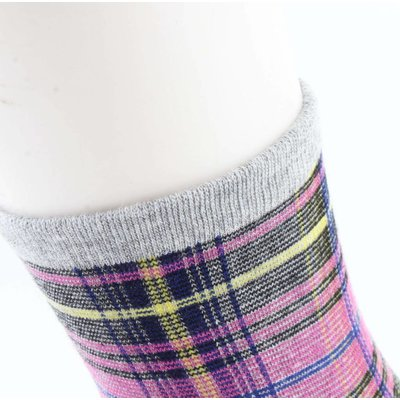 "Socks ""Gingham"" grey/pink"