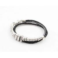 "Bracelet ""Rune"" black/silver"