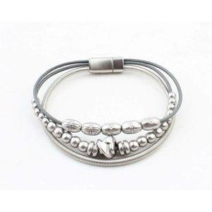 """Armband """"Sigrid"""" zilver/grijs"""