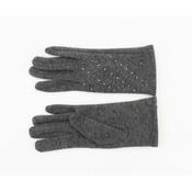 "Handschuhe ""Stine"" melange grau"