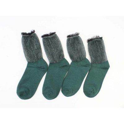 """Sokken """"Brendy"""" groen"""