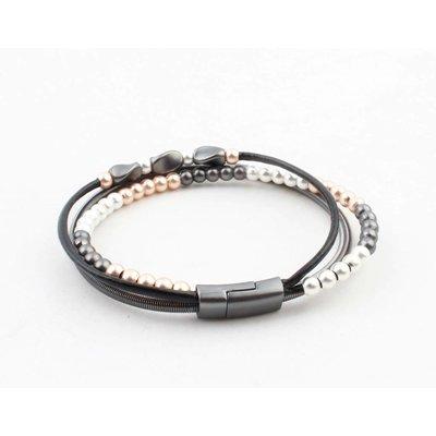 "Bracelet ""Mikael"" anthracite"