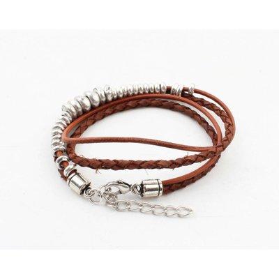 """Armband """"Rune"""" bruin"""