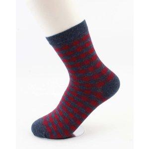 """Sokken """"Etelka"""" blauw/rood"""
