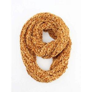 """Loop sjaal """"Gabriella"""" oker"""