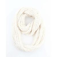 """Loop scarf """"Gabriella"""" white"""
