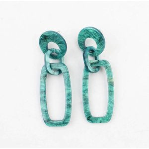 "Earring ""Quinty"" green"
