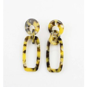 "Earring ""Quinty"" yellow"