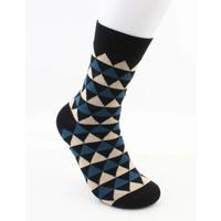"""Sokken """"Dario"""" zwart/blauw"""