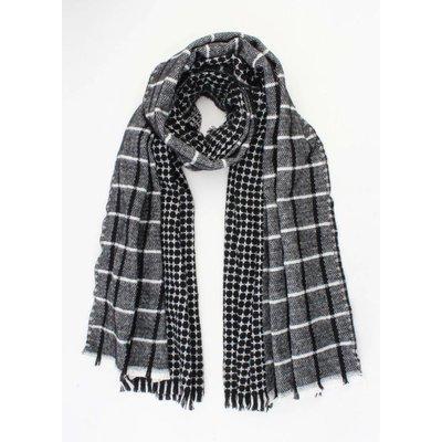 """Sjaal """"Antonia"""" zwart/grijs"""