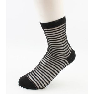 "Socks ""Sylvana"" black/white, per 2 pairs"
