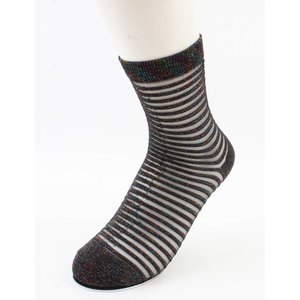 "Socks ""Sylvana"" brown/white, per 2 pairs"