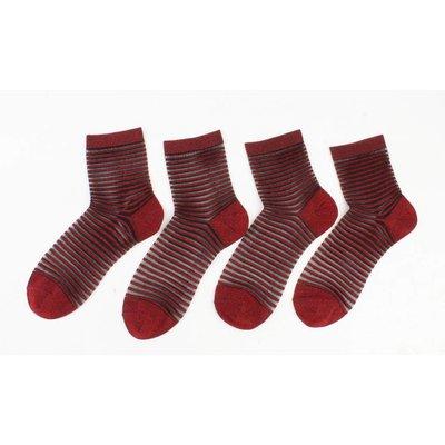 """Socken """"Sylvana"""" rot/weiß, doppelpack"""