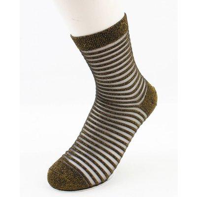 "Socks ""Sylvana"" gold/white, per 2 pairs"
