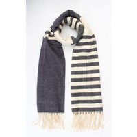 "Scarf ""Rosey"" blue/grey"