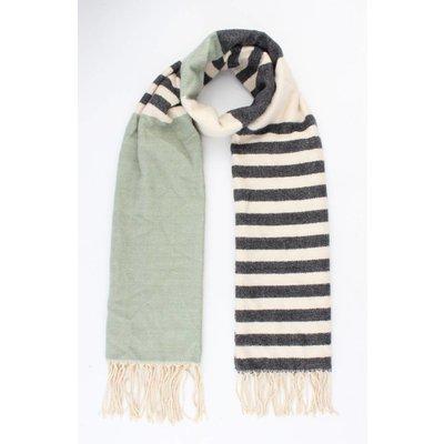 """Sjaal """"Rosey"""" groen/grijs"""