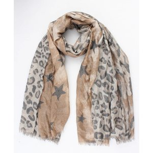 """Scarf """"Chassey"""" brown"""