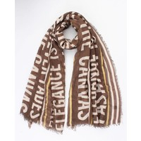 "Scarf ""Marcy"" brown"