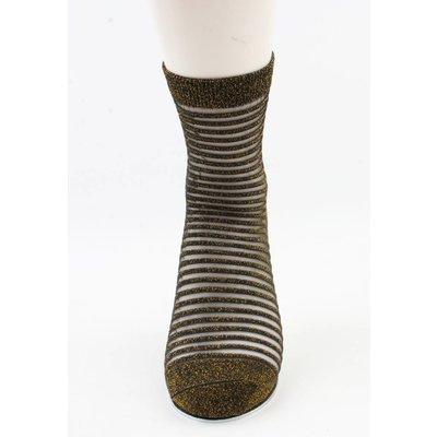 "Socken ""Sylvana"" gold/weiß, doppelpack"