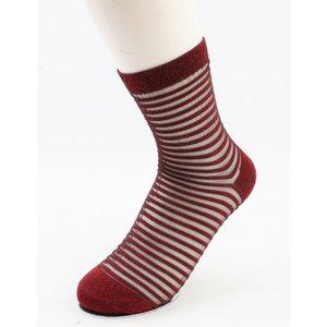 """Sokken """"Sylvana"""" rood/wit, per 2 paar"""