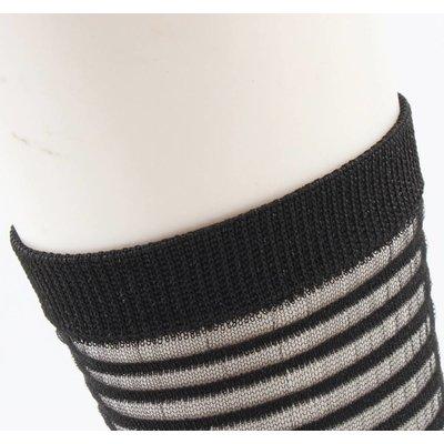 """Sokken """"Sylvana""""zwart/wit, per 2 paar"""