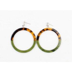"Earring ""Rosalinn"" green"