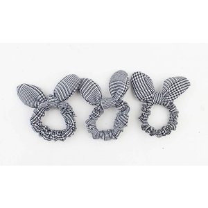 "Hair elastics ""Season"" black/white, per 3pcs."
