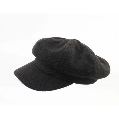 """Newsboy cap """"Jacob"""" black"""
