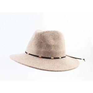 "Panama hat ""Domino"" taupe"