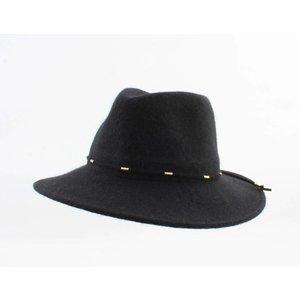 """Panama hoed """"Domino"""" zwart"""