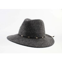 "Panama hoed ""Domino"" antraciet"