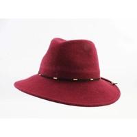 "Panama hoed ""Domino"" rood"