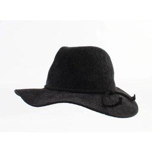 """Panama hoed """"Solenn"""" zwart"""